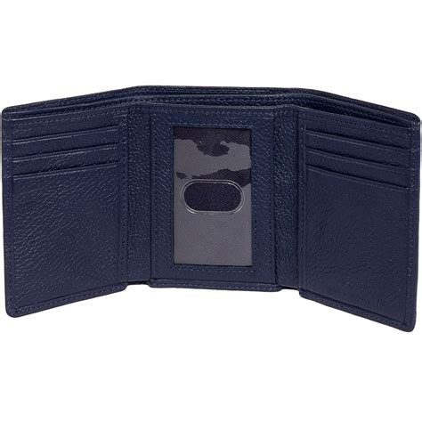 ross mens leather trifold wallet w rfid insert