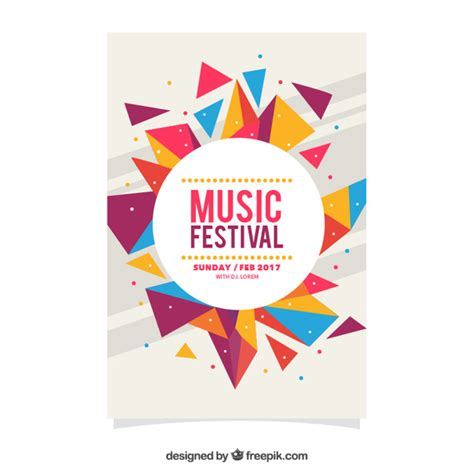 poster design vector graphics colorful geometric festival festival poster vector free