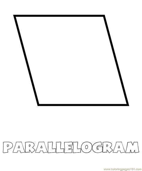 printable shapes rhombus free coloring pages of rhombus