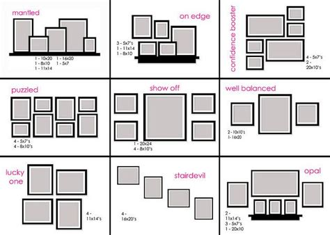 canvas layout sizes gallery 1 photo wall arrangements photo wall and wall ideas