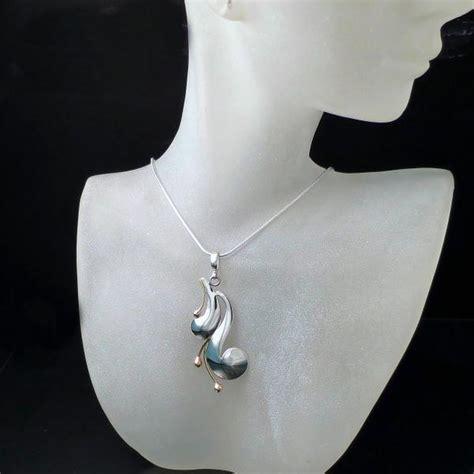modern jewelry two tone pendant zoran designs jewelry