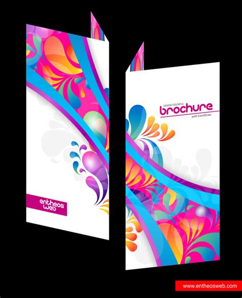 design card template coreldraw colorful brochure design in coreldraw