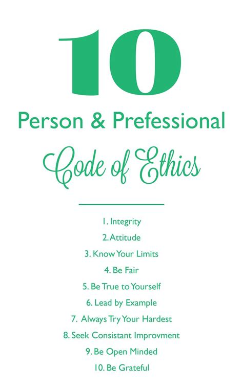 code of conduct sle template best 25 code of ethics ideas on