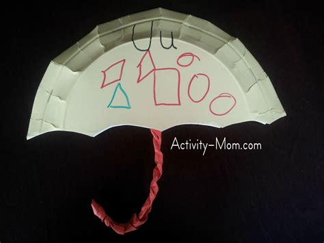 How To Make Umbrella With Paper Plate - the activity paper plate alphabet craft u is for