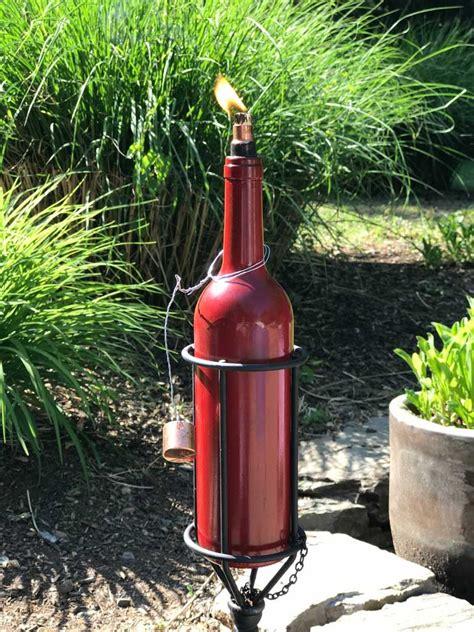 wine bottle tiki torch diy diy wine bottle tiki torch goodstuffathome