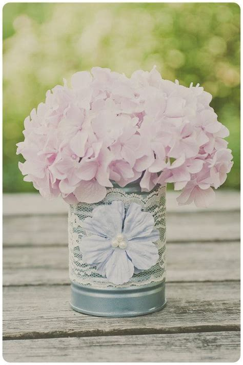 Wedding, Hydrangeas and Formula cans on Pinterest