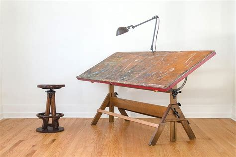 Artist Table hamilton studio drafting table vintage easels and industrial