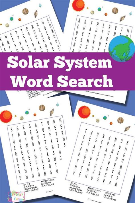 printable word search solar system 17 best images about solar system on pinterest solar