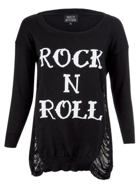 Tshirtkaos Rock N Roll s quot rock n roll quot sweater by pretty attitude clothing inked shop
