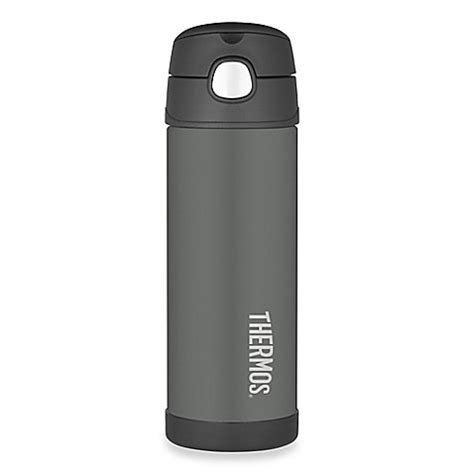thermos bed bath and beyond thermos 174 16 oz stainless steel straw bottle in charcoal