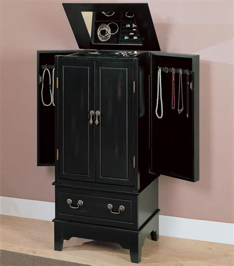 Large Black Jewelry Armoire by Black Jewelry Armoire Armoires Other Accessories