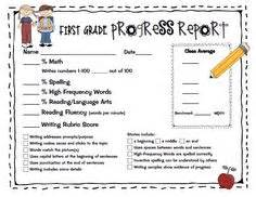 Grade Progress Report Template by Progress Reports On Second Grade