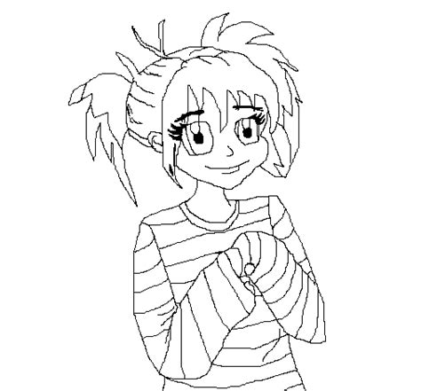 little girl face coloring page little girl with happy face coloring page