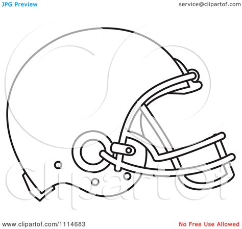 Football Helmet Outline Profile by Blank Football Helmet Clipart Clipart Kid