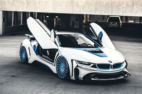 custom white bmw spaceship in the form of the car custom white bmw i8 with