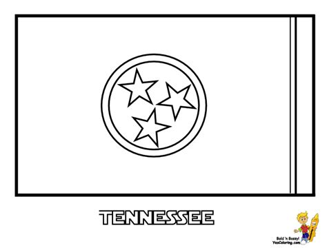 Tennessee State Flag Coloring Page noble usa flags printables state flags nebraska