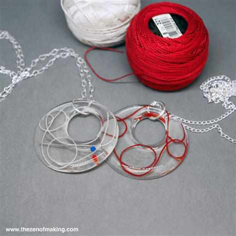 How To Make Handmade Bracelets With Threads - tutorial resin sewing thread and embroidery floss