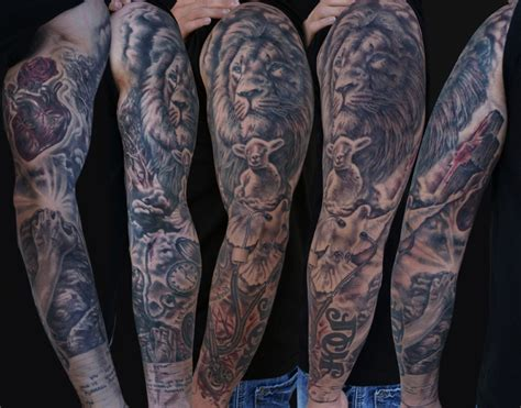 lion sleeve tattoo designs sleeve designs best design