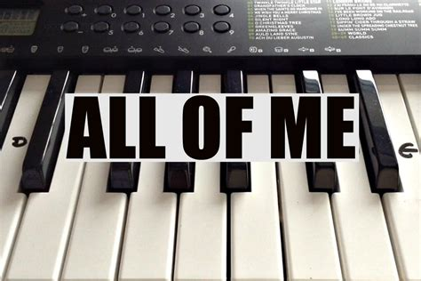 tutorial keyboard all of me how to play all of me john legend intro on piano easy