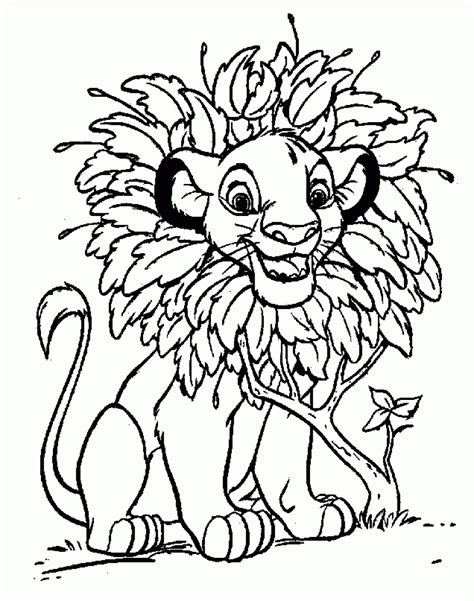 free printable coloring pages for lion king disney coloring pages lion king free large images