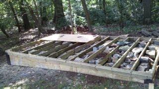 build  wooden deck  uneven ground woodworking