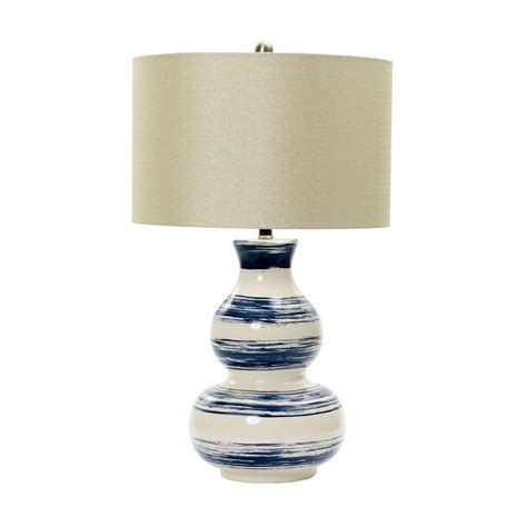 fangio lighting m r lamp and shade s 28 in white striped