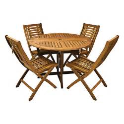 Gateleg Patio Table Furniture The Gateleg Patio Table And Stowable Chairs Hammacher Schlemmer Folding Patio Chairs