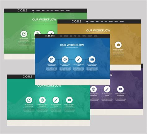 core one page responsive html5 template site templates