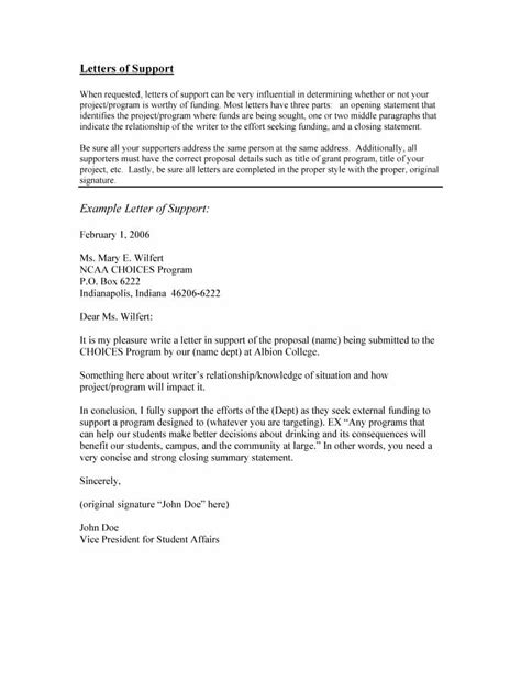 grant letter of support template 40 proven letter of support templates financial for