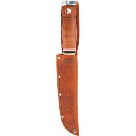 Ka Bar Bowie Fixed Blade Knife Stacked Leather Handle W Sheath 1236 1 ka bar bowie stacked leather handle 1236