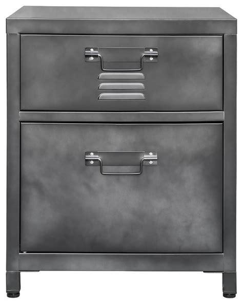 Locker Style Nightstand by 2 Drawer Steel Locker Style Nightstand Industrial