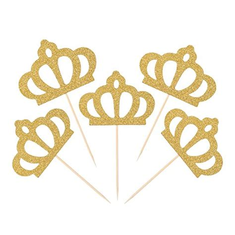 Topper Crown Glitter crown cupcake toppers janou gold glitter crown cake cupcake topper for wedding decoration