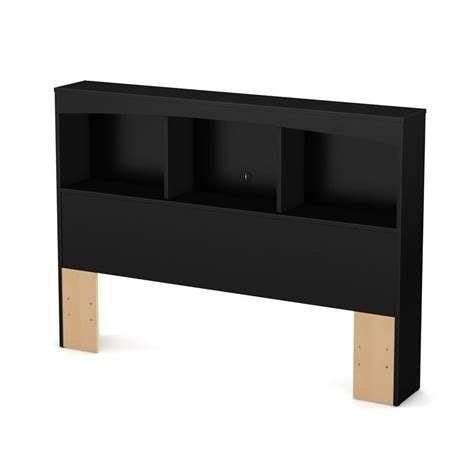 bookcase headboards full south shore maddox full bookcase headboard in pure black