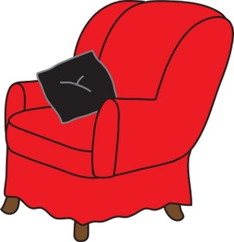 Commercial Dining Room Furniture arm chair clipart image clip art illustration of a red