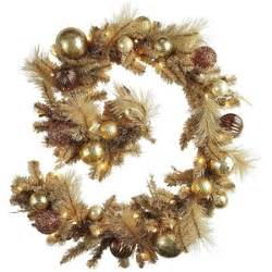 pier 1 imports pre lit garland gold polyvore