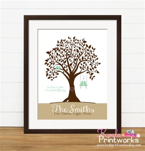 personalized wall decor for home personalized family tree family art print family wall art