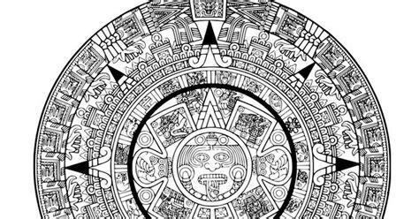 Calendario Azteca Para Colorear Pinto Dibujos Calendario Azteca Para Colorear