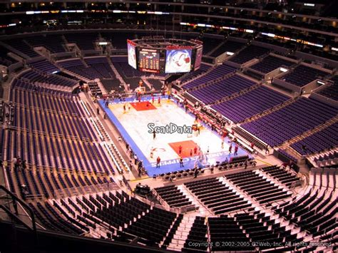staples center seat viewer clippers lakers staples center section 312