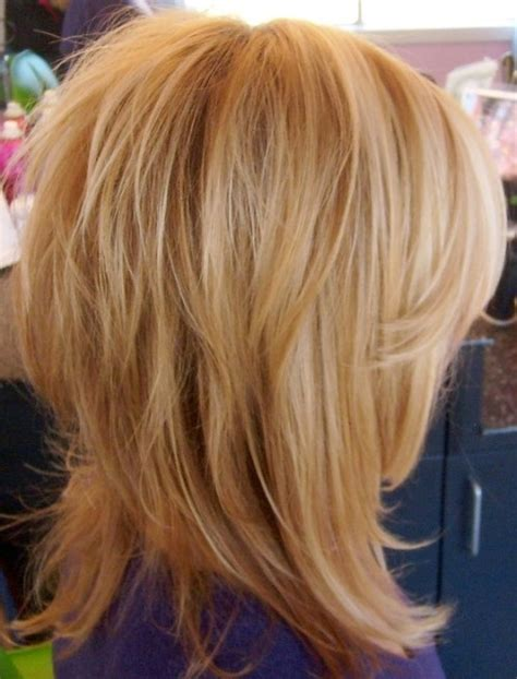 medium length tapered or layered hairstyles for women over 50 shoulder length shag with tapered layers 30 seriously