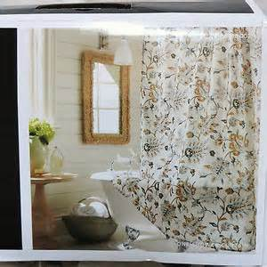Target home tan jacobean shower curtain 72x72 quot ivory gray gold black