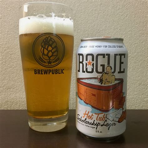beer bathtub rogue ales spirits hot tub scholarship lager released in