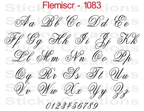 printed calligraphy fonts 1083 custom fancy script lettering customized vehicle