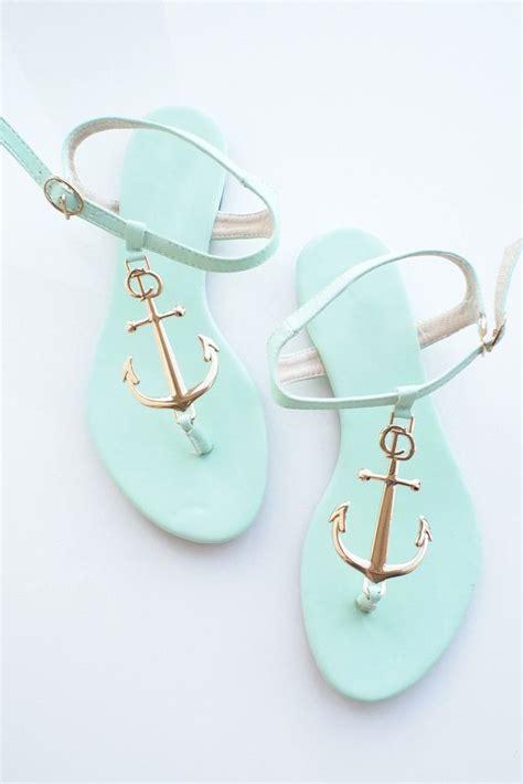 anchor sandals i these mint anchor sandels adorable we it