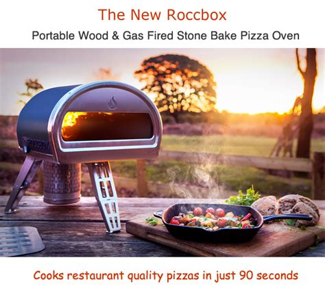 roccbox portable oven cooks a pizza in 90 seconds roccbox wood gas fired portable outdoor pizza ovenspizza
