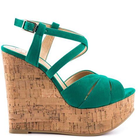 green wedge sandal green wedges shoes