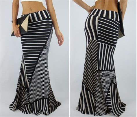 Stripe Maxi Skirt Et Cetera avant gard maxi skirt mermaid flare stripe