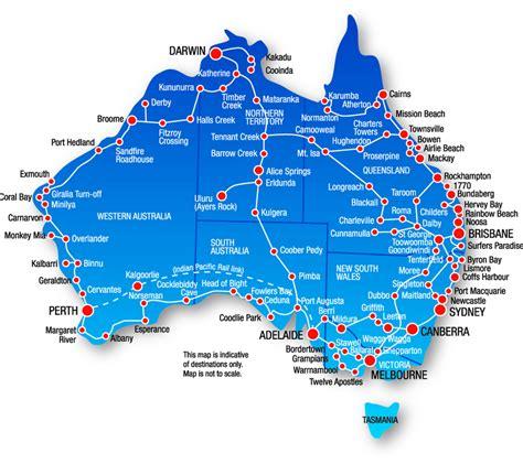 australia tourist map australia map travel