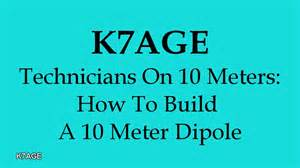 how to m how to build a 10 meter dipole youtube