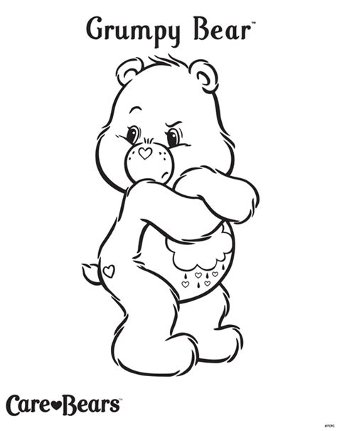 care bears colour grumpy bear