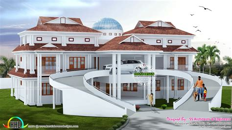 luxury house plans photos kerala with wondrous home design 4990 sq ft luxury home with r kerala home design and